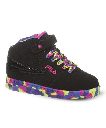 2469b999f0a2 FILA Black   Neon Pink Camo Hi-Top Sneaker