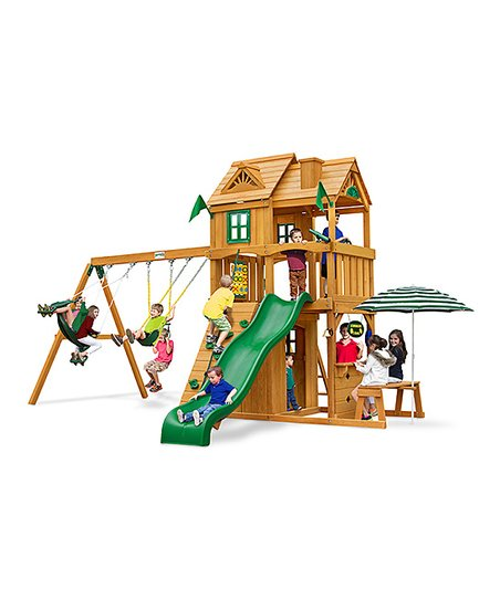 Gorilla Playsets Cafe Climber Swing Set Zulily