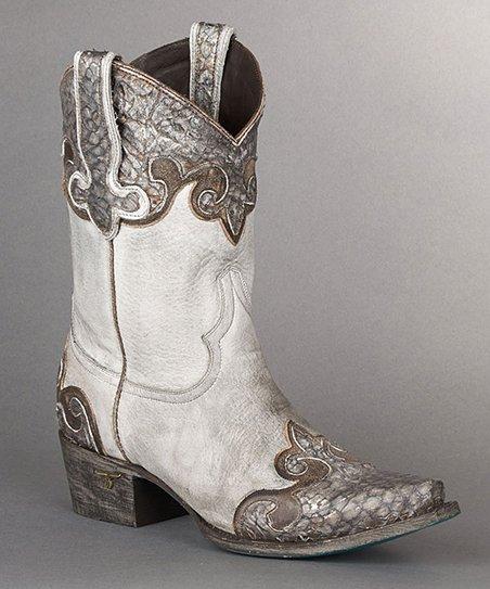Silver Dakota Leather Cowboy Boot