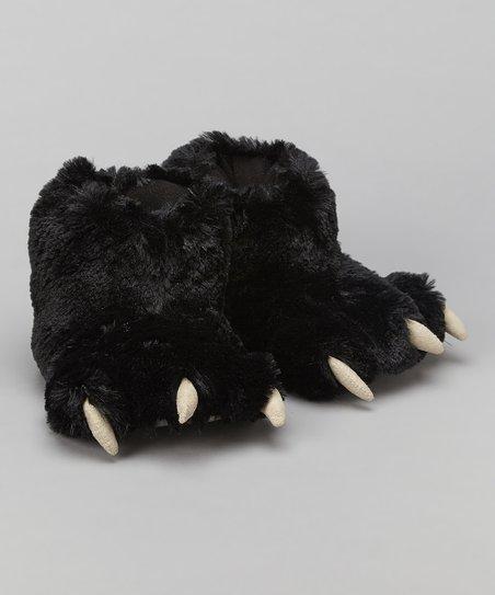 2b536b33a28 Lazy One Black Bear Paw Slipper - Adult