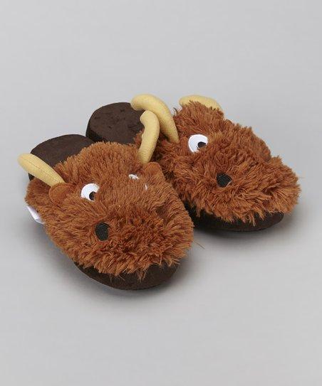1af47b248 Lazy One Brown Moose Critter Slipper - Girls   Women