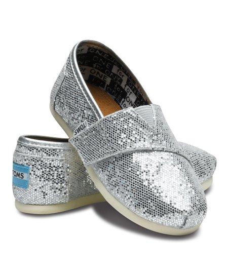 TOMS Silver Glitter Classics - Tiny