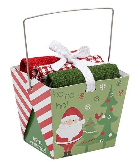 Design Imports Santas Workshop Dish Towel Gift Set Zulily