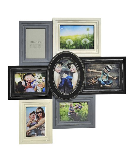 Black Gray Distressed Wood Collage Frame Zulily