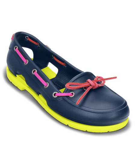 13bf7a593 Crocs Womens Beach Line Slip On Boat Shoes Women s Shoes