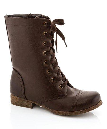 Brown Classic Combat Boot