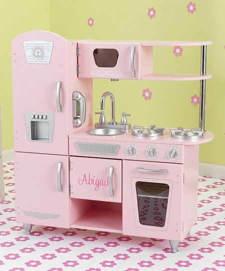 KidKraft Personalized Vintage Kitchen Pink | Zulily