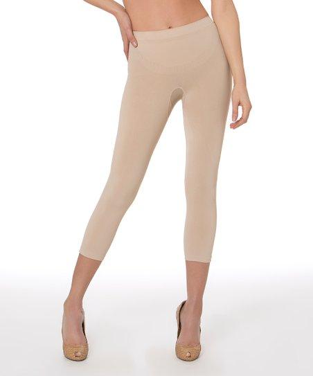 6d27b2135f711 Aha Moment Nude Anti-Cellulite Shaper Capri Leggings - Women | Zulily