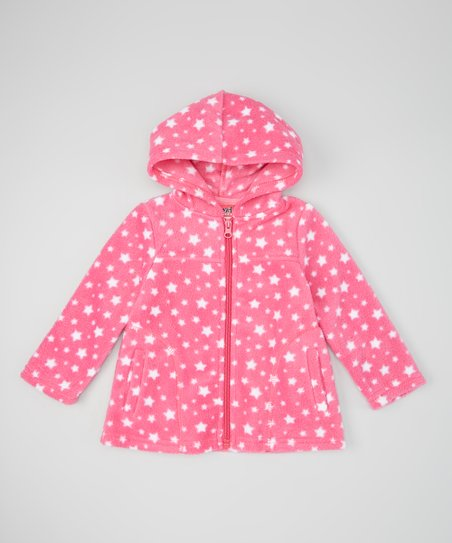 e1ad519c74eed love this product Hot Pink   White Dot Fleece Jacket - Infant