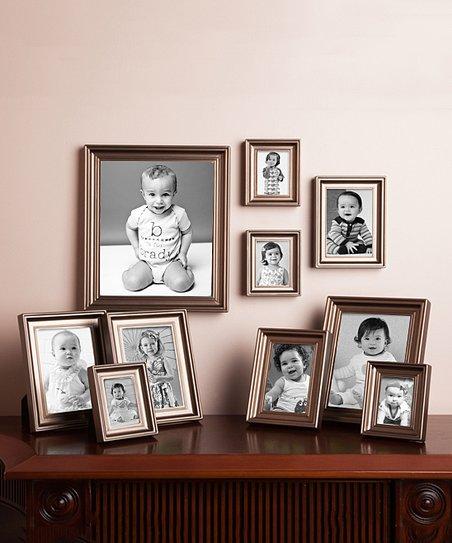 Philip Whitney Bronze Contemporary 10 Piece Picture Frame Set Zulily