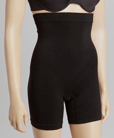 359e97493a04 love this product Black Compression High-Waist Long-Leg Thigh-Shaper Shorts  - Women