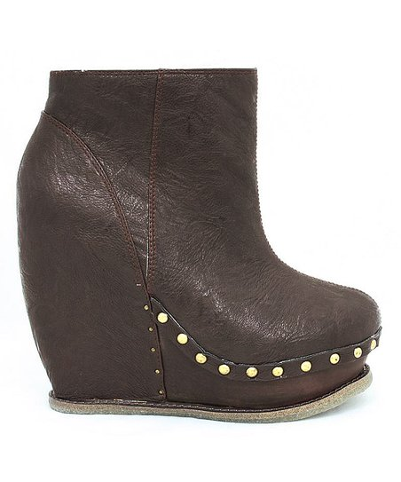 d9e65b539f93 Irregular Choice Chocolate Sugar   Candy Wedge Boot - Women