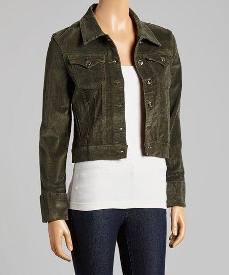 Be Girl Olive Green Corduroy Jacket Women Zulily