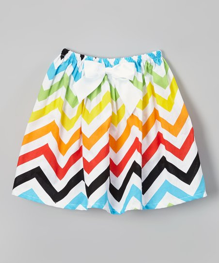541a0be3c1 love this product Rainbow Chevron Circle Skirt - Toddler & Girls