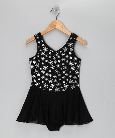 a298cb599 Future Star by Capezio Black Soot Dazzling Daisy Skirted Leotard ...