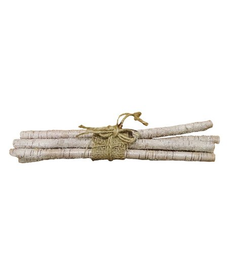 Burlap Wred Birch Sticks Décor Zulily