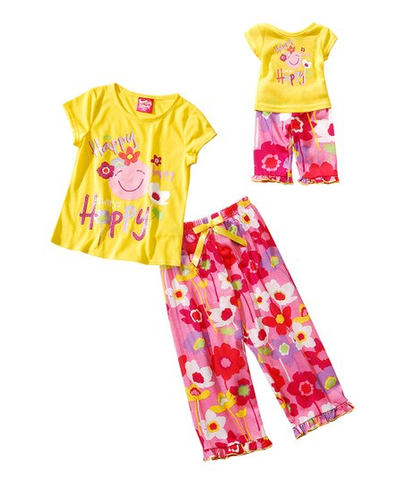 3e31c1d1ee73 love this product Yellow   Pink  Happy  Pajama Set   Doll Outfit - Girls