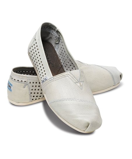 5ea877fbd3c love this product White Perforated Leather Classics - Women