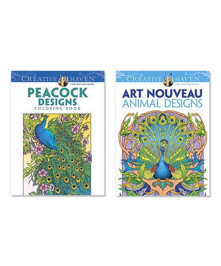 - Dover Peacock & Art Nouveau Animal Designs Coloring Book Set Best Price  And Reviews Zulily