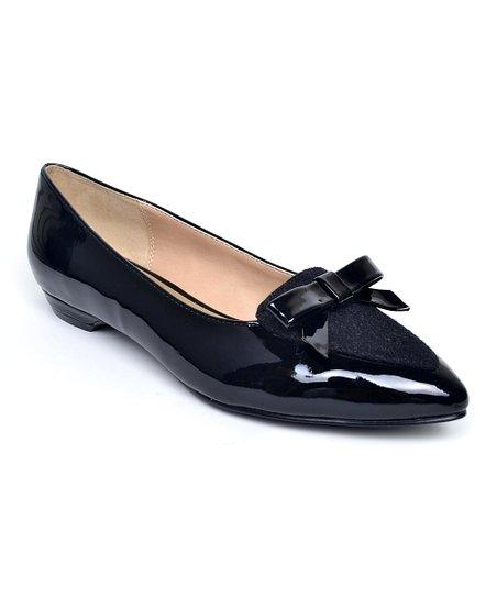 03f31eea2a21b ann marino by Bettye Muller Black Sublime Patent Leather Flat | Zulily