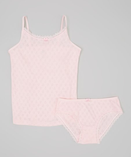 Lucky & Me Ballerina Pink Organic Camisole & Underwear - Toddler & Girls |  Best Price and Reviews | Zulily