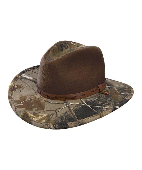 Stetson Brown   Realtree Deer Run Cowboy Hat  ea0d1621eb6