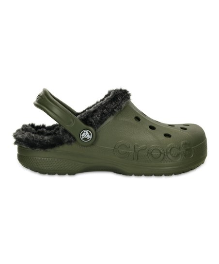 cf9e62cb347a Crocs Army Green   Black Baya Heathered Lined Clog - Unisex