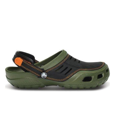 Crocs Army Green \u0026 Black Yukon Sport