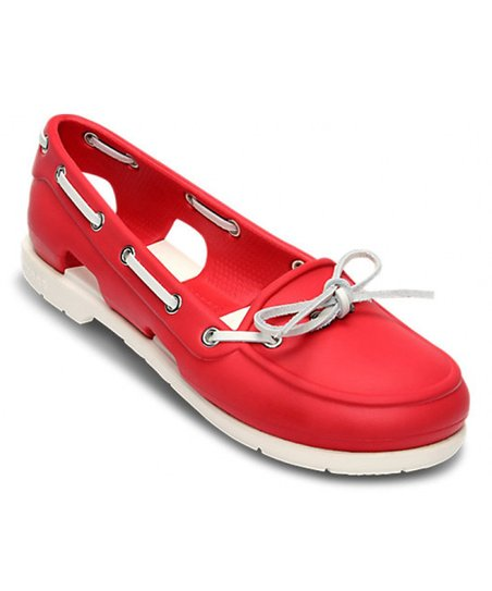 e54aa609fe616a love this product Red   White Beach Line Boat Shoe - Women