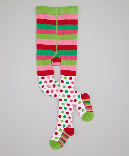 e0e7a7d7ed2 love this product Green   Red Christmas Dot Tights - Infant