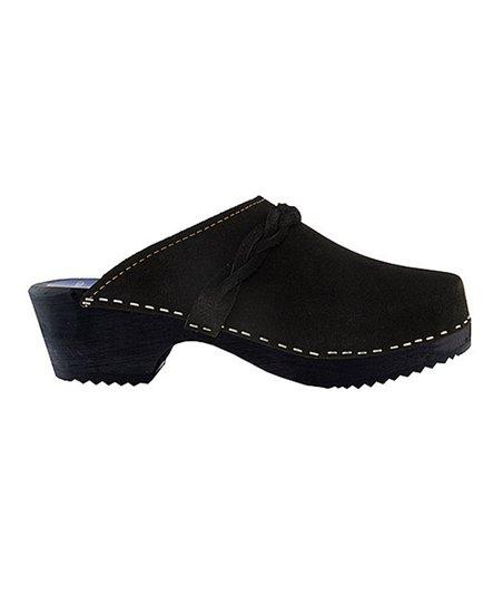 Cape Clogs Black Suede Clog - Women