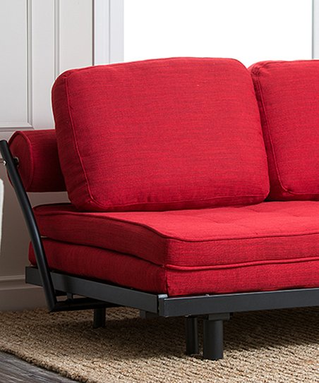 Red Florence Convertible Sofa Bed   Zulily