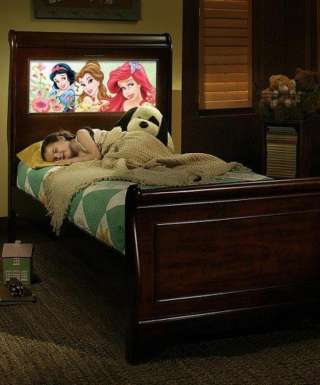 LightHeaded Beds Cherry Disney Princess Back-Lit LED Headboard LightHeaded  Frame