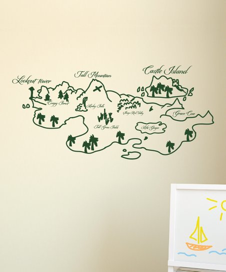 Wall Quotes™ by Belvedere Designs Pine Whimsical Map Wall ...