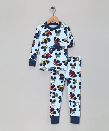 b2254b883 Light Blue Monster Truck Organic Pajama Set - Toddler   Boys