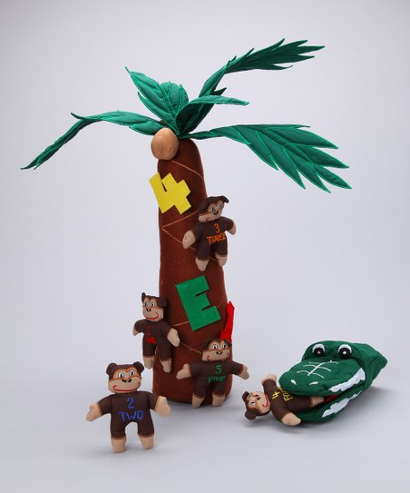 Five Little Monkeys Swinging In A Tree Plush Set Zulily
