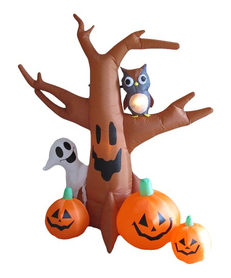 Halloween Tree Inflatable Light Up Lawn Decoration Zulily