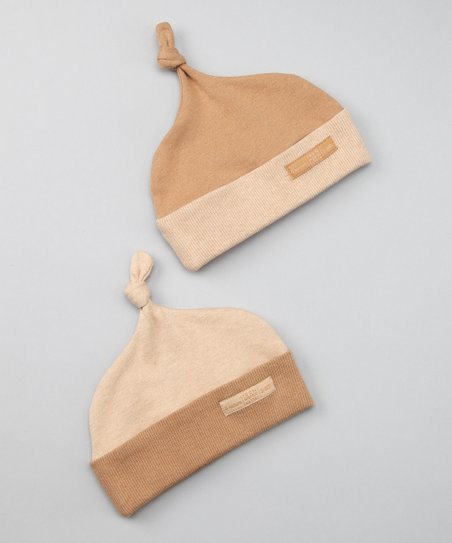 37902f9ddaa love this product Chestnut Wheat Tea Organic Beanie Set - Newborn   Infant