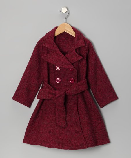 c27237d0a love this product Hot Pink & Brown Tweed Trench Coat - Toddler & Girls