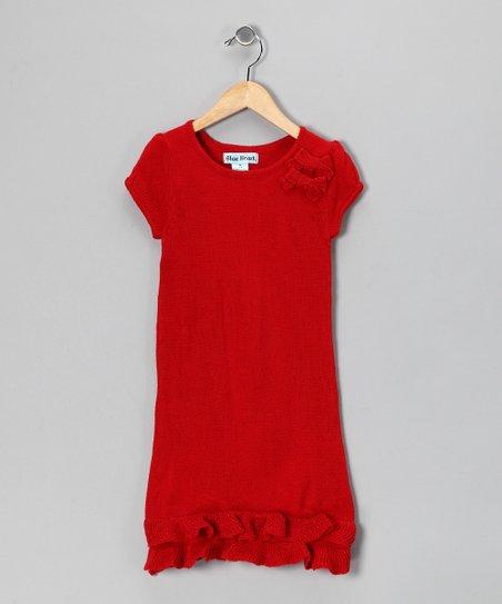 57f3cb0e870b Red Bow Sweater Dress - Infant
