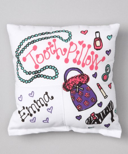 50928df492c88 Bunnies and Bows Girly Girl Personalized Tooth Pillow