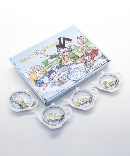 Cardew Design Alice In Wonderland Tea Bag Rest Set Of Four Zulily