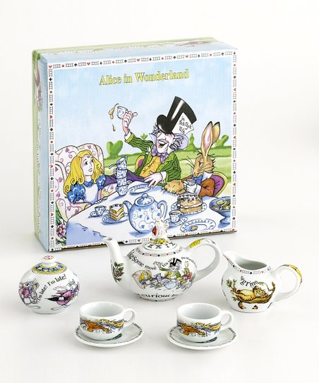 Cardew Design Alice In Wonderland Miniature Tea Set Zulily