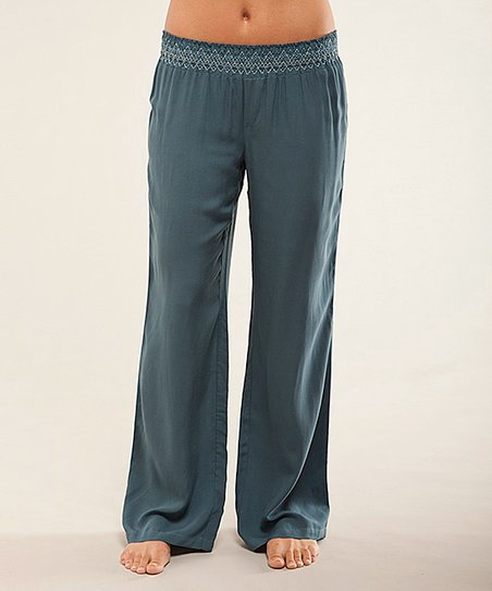 acd4d698 Carve Designs Indian Teal Breezy Beach Pants | Zulily