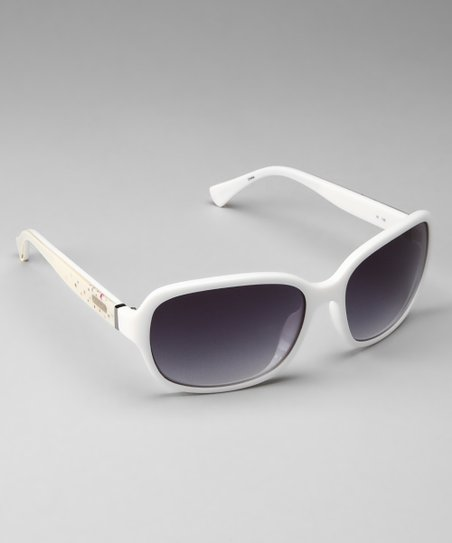 201a90e3c8f7 Coach Sunglasses & Opticals Coach White Sparkle Sunglasses | Zulily