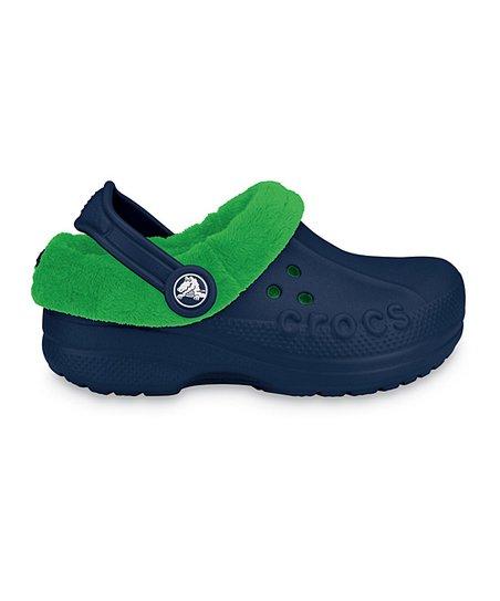 3daa4ecee35cb1 love this product Navy   Lime Green Blitzen Polar Clog - Kids