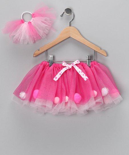 love this product Hot Pink Pom-Pom Tutu   Hair-Tie - Infant ae7654c841c