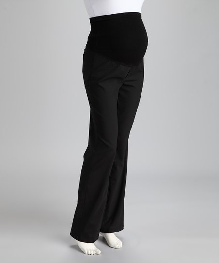 43feaa3f8fd98 Mom & Co Black Nora Wool-Blend Over-Belly Maternity Pants | Zulily