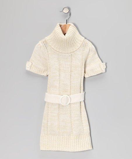 Dollhouse Cream Turtleneck Sweater Dress Toddler Girls Zulily