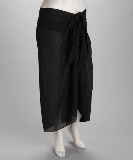 e79d3f228e555 Dotti Black Sarong So Right Plus-Size Wrap | Zulily